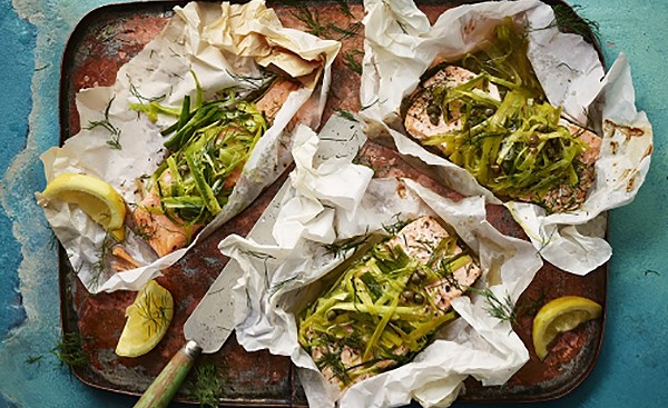 Leek and Salmon Parcels