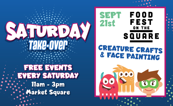 Saturday Take Over – Creature Crafts & Face Painting